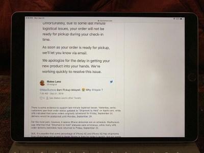 Некоторые владельцы прошлогодних планшетов iPad Pro пожаловались на проблемы с экраном