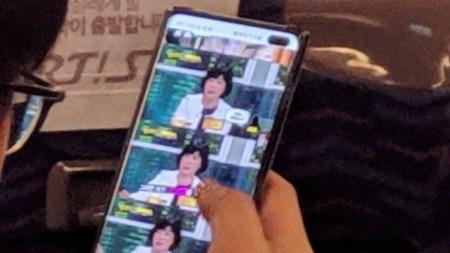 Флагманский смартфон Samsung Galaxy S10+ с двойной селфи-камерой, врезанной в экран, замечен в «дикой природе»