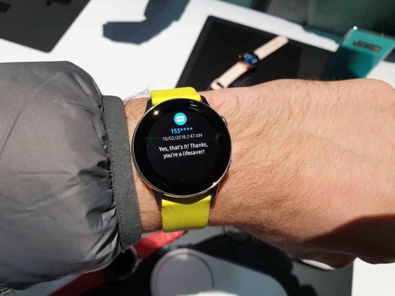 Galaxy Watch Active - первый взгляд на новые спортивные часы Samsung