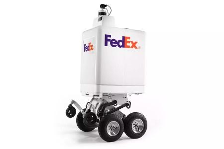 FedEx SameDay Bot — автономный колесный робот для курьерской доставки, способный самостоятельно взбираться на бордюры и ступеньки [видео]