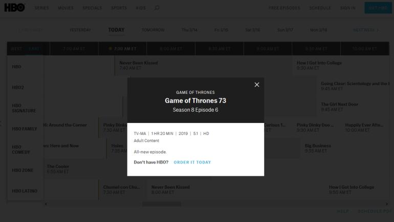Стала известна длительность всех серий финального сезона «Игры престолов» (только три последние будут идти больше часа)