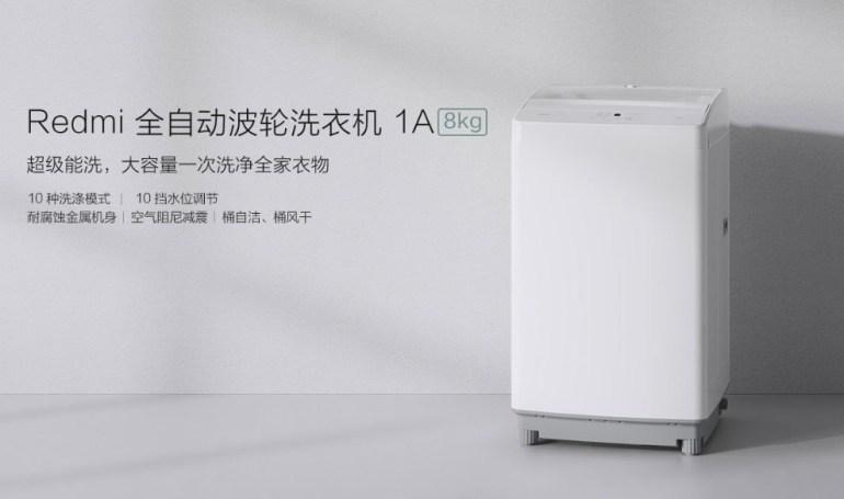 Анонсирована стиральная машина Redmi 1A Washing Machine вместимостью 8 кг и стоимостью $120