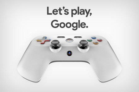 Патентные изображение демонстрируют дизайн контроллера Google для игрового стримингового сервиса Project Stream