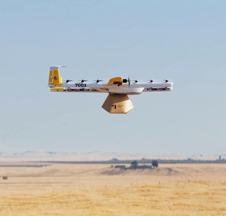 Wing первой в США получила разрешение на доставку посылок беспилотниками