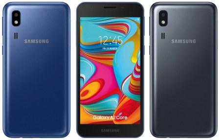 Ультрабюджетный смартфон Samsung Galaxy A2 Core при цене $75 предложит 5-дюймовый экран, современную 8-ядерную SoC Exynos 7870 и свежую Android 9 Pie (Go edition)