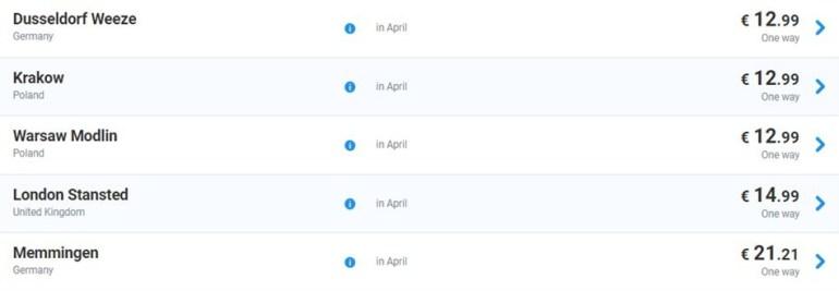 Ryanair запустил большую пасхальную распродажу: авиабилеты из Киева и Львова по более чем 20 направлениям от €9,9