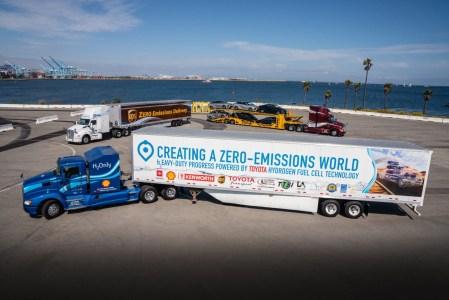 Порт Лос-Анджелеса начнет перевозить грузы при помощи разработанных Toyota фур на водородном топливе