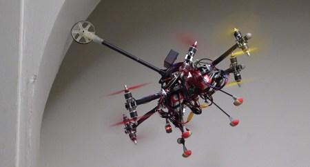 Швейцарские инженеры создали мультикоптер для контактной инспекции