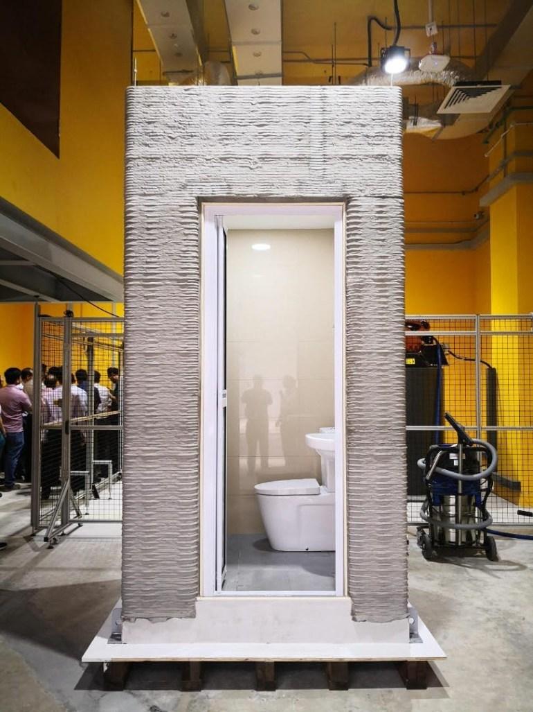 Сингапурские инженеры представили технологию быстрой печати уборных