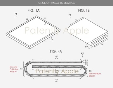 Apple запатентовала гибкий iPhone и новую версию обложки Smart Keyboard Folio с клавиатурой и тачпадом