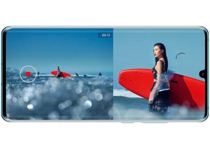 Обновление прошивки принесло глобальную поддержку режима двойной записи видео Dual-View для смартфонов Huawei P30 и P30 Pro