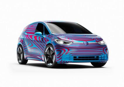 Официально: Volkswagen назвал свой первый серийный электрохэтчбек ID.3 и открыл предзаказы. На выбор предложат батареи на 45, 58 и 77 кВтч, стоимость новинки стартует с €30 тыс.