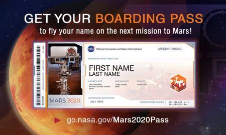 NASA открыла онлайн-регистрацию на миссию Mars 2020, предложив всем желающим отправить свои имена на Красную планету