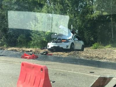Обновлено: Электромобиль Tesla Model X попал в аварию на Житомирской трассе