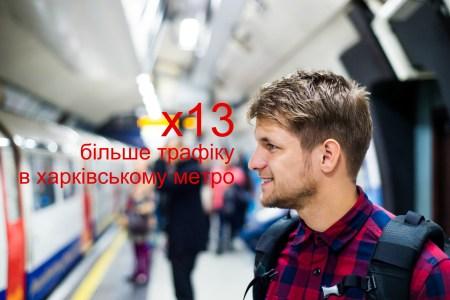 Vodafone: Потребление мобильного интернета в харьковском метро выросло в 13 раз за последние три года (3G-сеть оператора там работает с 2015 года, 4G — с 2018 года)
