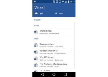 Microsoft Word для Android достиг показателя в 1 млрд установок