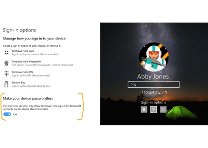 В Windows 10 тестируют авторизацию без паролей