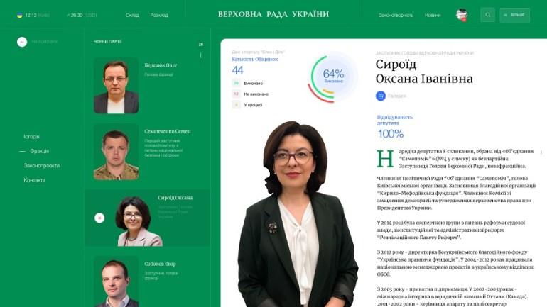 Одесские разработчики Nextpage предлагают новый дизайн сайта Верховной рады Украины [Концепт]
