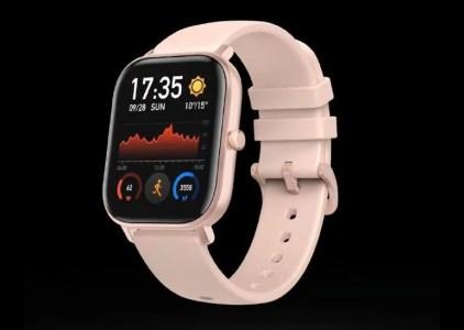 Грядущие новые умные часы HuamiAmazfit (предположительно, Bip 2) выглядят как копия Apple Watch Series 4 в цвете Rose Gold