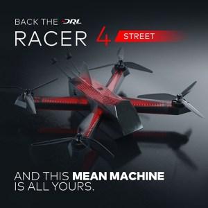 Чемпионат Drone Racing League представил пользовательскую версию своего гоночного дрона DRL Racer4 Street с разгоном до 145 км/ч за 1 секунду