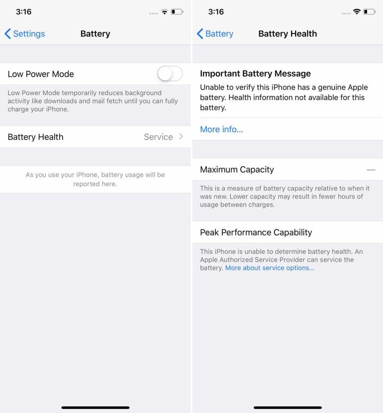 """""""Для вашей безопасности"""": Apple объяснила, почему выводит сервисное сообщение о неавторизованной замене батареи в iPhone"""