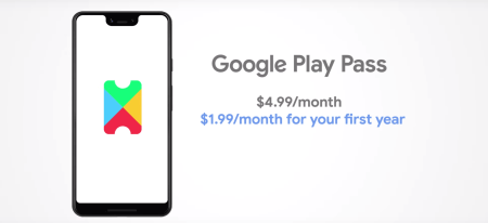 Google Play Pass за $5 в месяц предоставит доступ к более 350 мобильных игр и приложений без рекламы и встроенных покупок (первый год — $2 в месяц)