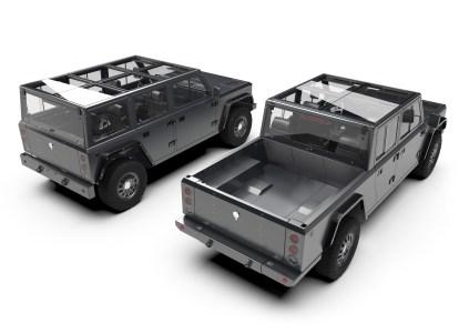 Американский стартап Bollinger представил предсерийные прототипы электрокроссовера Bollinger B1 и электропикапа Bollinger B2 с мощностью 600 л.с. и батареей 120 кВтч