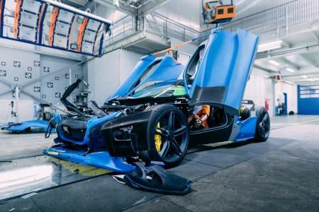 Хорватская компания Rimac показала, как проводит краш-тесты своего электрогиперкара Rimac C_Two стоимостью $2 млн [видео]
