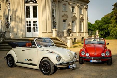 Электромобиль Volkswagen e-Beetle от eClassics оценили в €99,900, «тележка» для самостоятельной модернизации классических ДВС-авто обойдется в €39,900