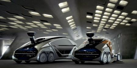 Немецкие инженеры из EDAG представили концептуальный модульный робомобиль CityBot, который в одно время возит пассажиров, а в другое — чистит улицы