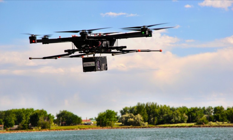 ASTRALiTe представила батиметрический лидар edge, который можно закрепить на дроне среднего размера