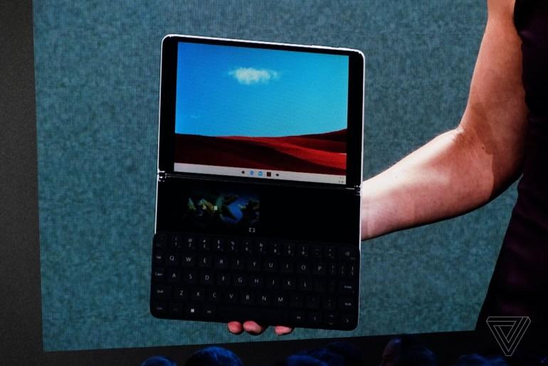 Microsoft показала Surface Neo – мобильное устройство с двумя дисплеями