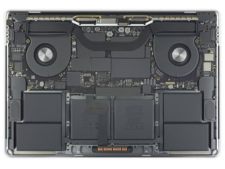 iFixit: Новый Apple MacBook Pro получил очень большую батарею и улучшенную систему охлаждения