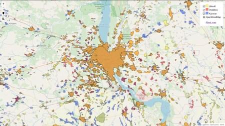 НКРСИ создала онлайн-карту покрытия Украины 4G-связью на основе данных, предоставленных Киевстар, Vodafone и lifecell