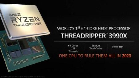 64 ядра, 128 потоков, 288 МБ кэш-памяти и TDP 280 Вт. Процессор AMD Ryzen Threadripper 3990X выйдет в 2020 году