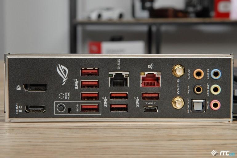 ASUS ROG Strix X570-E Gaming panel