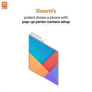 Xiaomi запатентовала складной смартфон с выдвижной селфи-камерой из пяти модулей