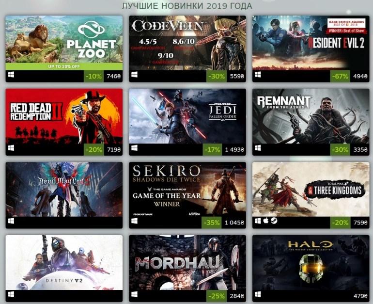 Итоги 2019 года от Steam: Рейтинги самых продаваемых и популярных игр, а также лучших новичков и VR-проектов