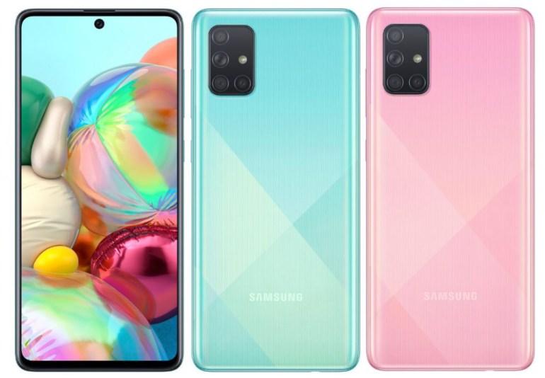 Samsung анонсировала смартфоны Galaxy A51 и Galaxy A71 с Infinity-O AMOLED дисплеями, до 8 ГБ ОЗУ и счетверёнными камерами