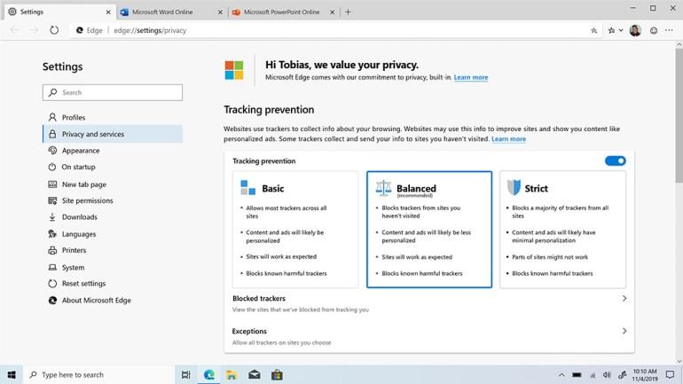 Microsoft официально выпустила новый браузер Edge Chromium для Windows и macOS, но некоторые функции всё ещё не реализованы