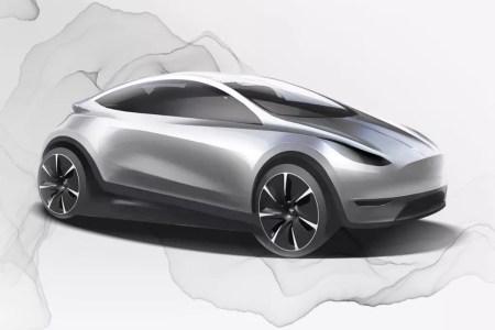 Tesla показала эскиз того, как может выглядеть новый электромобиль компании, разработанный китайским дизайн-центром