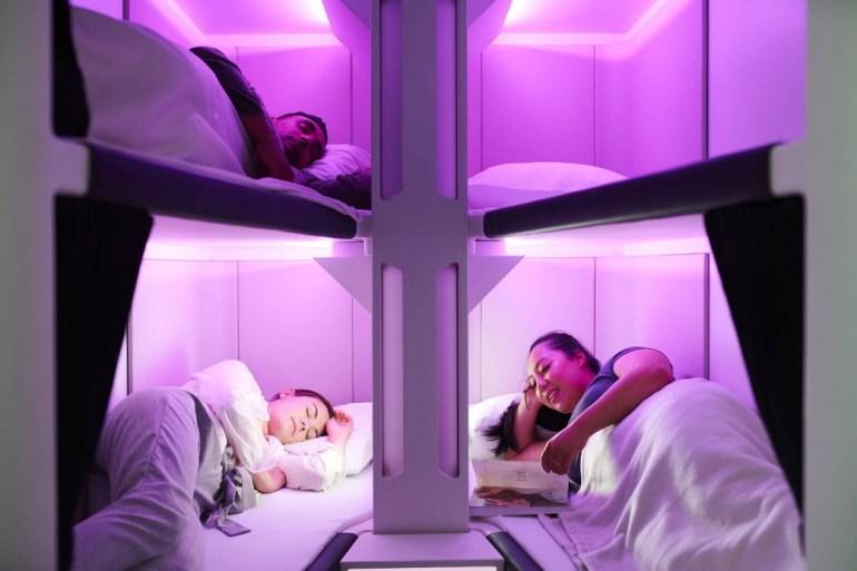 Авиакомпания Air New Zealand представила прототип купе для сна в экономклассе