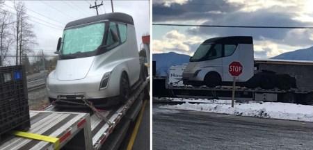 Одна из двух построенных электрофур Tesla Semi отправилась на север для зимних испытаний
