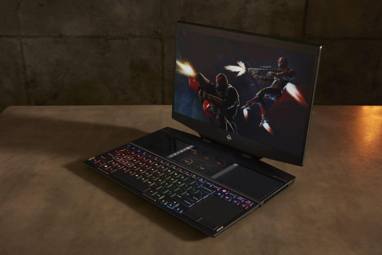 Обзор ноутбука с двумя экранами HP Omen X 2S
