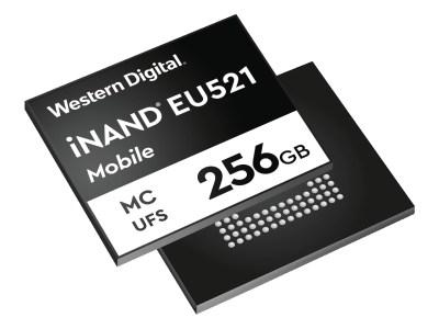 Western Digital выпустила память iNAND MC EU521 для 5G-смартфонов со скоростью записи до 800 МБ/с