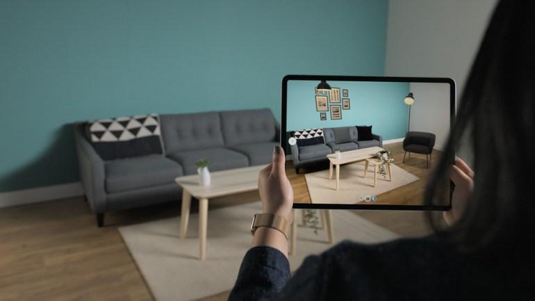 Apple показала возможности LIDAR в iPad Pro: игры дополненной реальности, подбор мебели, просмотр виртуальных объектов в реальной комнате