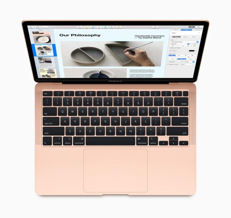 Apple обновила MacBook Air: новая клавиатура Magic Keyboard, CPU Intel Core 10-го поколения, более емкие SSD и цена от $1000