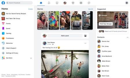 Facebook внедрила новый интерфейс, в том числе с тёмным режимом, для всех пользователей