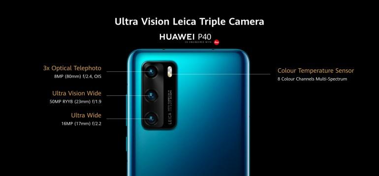 Смартфоны Huawei P40, Huawei P40 Pro и Huawei P40 Pro+ получили 50-мегапиксельную камеру, собственный магазин приложений и виртуальный ассистент Celia