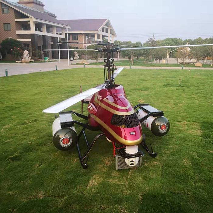Китайские инженеры из QilingUAV разработали беспилотный пожарный вертолет